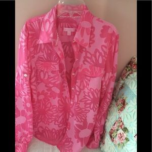 Lilly Pulitzer Top ladies large stunning